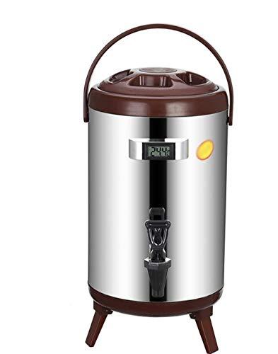 WWWANG Cubo de Aislamiento Comercial con termómetro de Calor de Acero Jugo de la Pulpa de café conservación en frío de Acero Frijol Leche hirviendo el Agua Cubo de té 8L10L12L Almacenamiento pequeño,