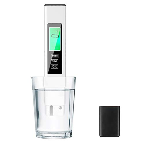 TDS Meter Digital Water Tester,AMMZO Professional Water Meter,4 in 1, PPM Meter EC Meter,Temperature, for Drinking Water Home Aquarium and More.(White)