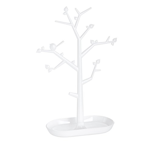 koziol Schmuckbaum  [pi:p] L,  Kunststoff, weiß mit transparent klar, 12,8 x 27,6 x 43,8 cm