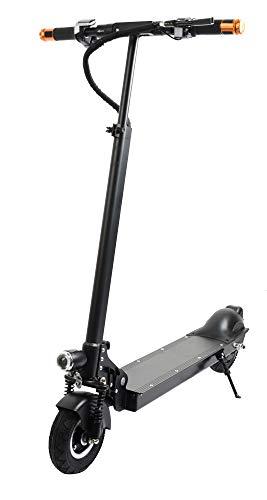 elrofu Unisex-Ausgewachsene KV950 Elektroscooter, Schwarz, Höhe: 80-103 cm (höhenverstellbarer Lenker), Länge 105 cm, Breite 35 cm