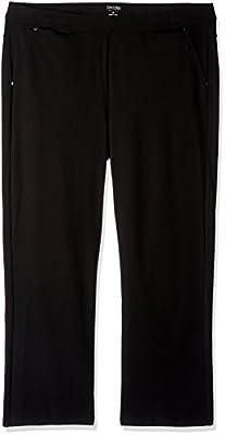 Calvin Klein Women's Plus SizePonte Bootleg Pant-30 Inch Inseam Size, Black 35, 2X
