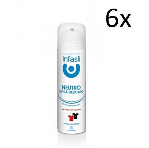 Infasil Neutro Extra Delicato Desodorante en spray 48h, antitranspirante, 150 ml (6 unidades)
