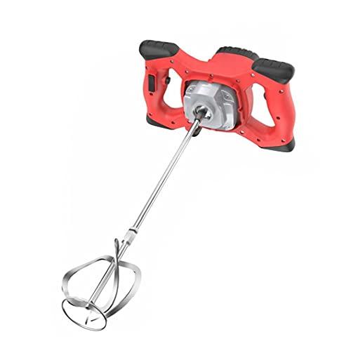 Nicejoy 2100w Taladro Herramienta agitación del Mezclador, hormigón de Cemento eléctrica Yeso eléctrico Handheld Mortero Mezclador Rojo