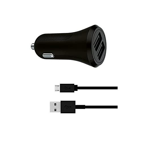 KSIX S1905053 Cargador de Coche USB Universal y Cable USB C