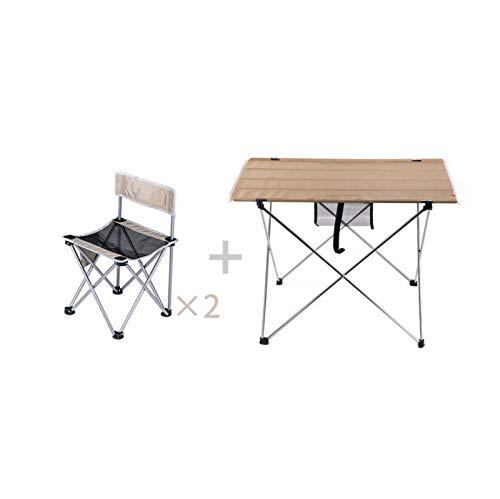 CJSWT Mesa de Picnic Plegable con 2 Asientos, Mesa con Sistema de sillas, Banco de Escritorio portátil de aleación de Aluminio para Viajes al Aire Libre Interior, Fiesta de Camping BBQ Backyard,B