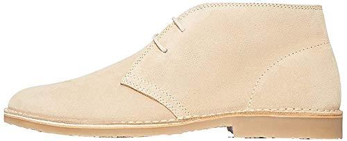 find. Herren Classic Chukka Boots, Stone, 44 EU