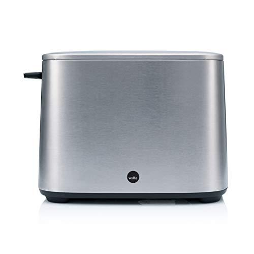 Wilfa CLASSIC Toaster - aus Edelstahl, verstellbare Hitzeeinstellungen mit Auftau-, Wiederaufheiz- und Abbrechfunktion, silber