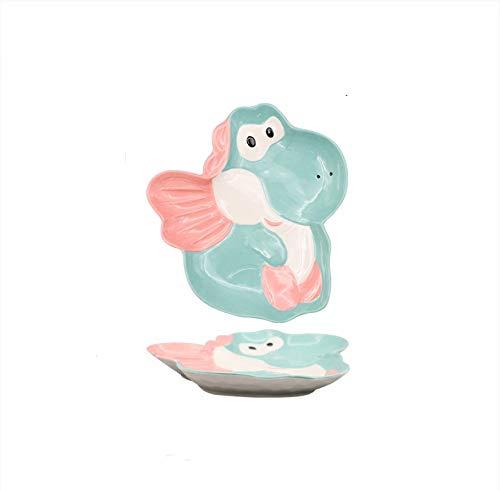 Plato de cerámica de dibujos animados para el hogar vajilla plato plato de arroz cuenco de fideos cuenco de sopa Xiaofeilong 24 * 26 cm