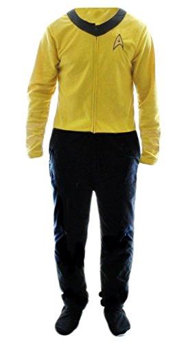 Bioworld Star Trek Gold Uniform Onesie Footie Pajama   L