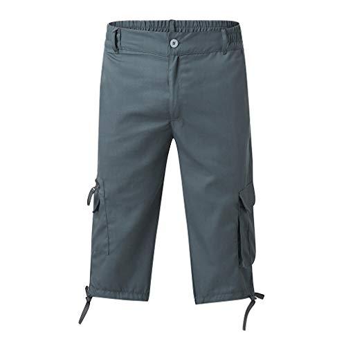 Bonnie Pantalons de Loisirs pour Hommes Stright 3/12 Cuissard Long Multi-Poche Salopette Shorts