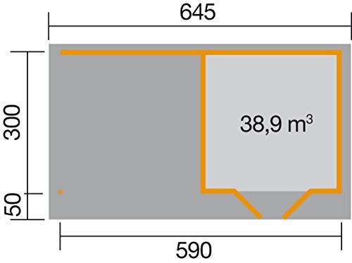 Bild zu weka Designhaus 126 B Gr.3, anthrazit, 28 mm, DT, Anbau 300 cm, ohne RW