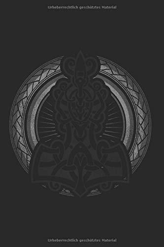 Thor's Hammer Wikinger Mythology Odin Wölfe Raben Notizbuch: DIN A5 schönes Notizheft | 120 Seiten Punkteraster, Notizbuch für all Anlässe | Geschenkidee Freunde