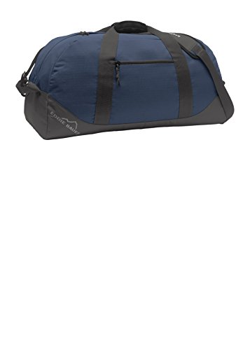 Eddie Bauer Large Ripstop Duffel, Coast Blue/Grey Steel, One Size