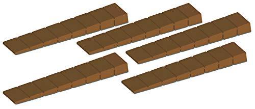 SECOTEC Keil Kunststoff braun | 100x20 mm | 5 Stück