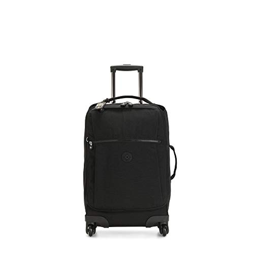 Kipling Darcey Softside Spinner Wheel Luggage, Black Noir, Carry-On 22-Inch