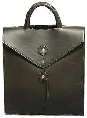 2016 Envelope Backpacks Men Leather Bag Black Mens Travel Bags School for mochilas B01