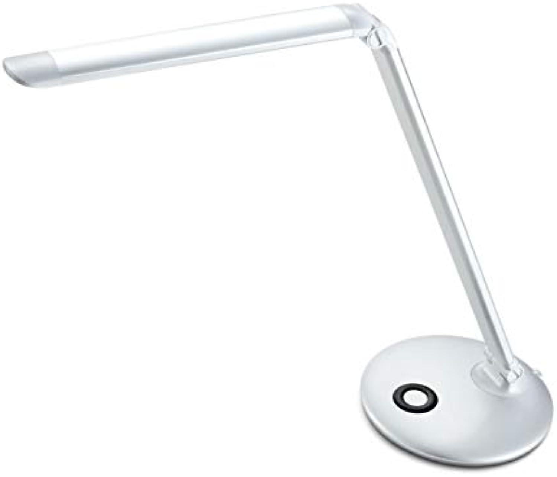 LIANGJING Einfache Moderne, Moderne, mit Metall geführte Augenpflege Lesegert Klapptischlampe Silber und Gold Zwei für Sie zur Auswahl,Silber