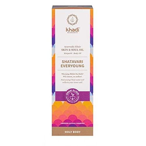 khadi Ayurvedisches Elixier Skin & Soul Oil I SHATAVARI EVERYOUNG I Intensives Anti-Aging-Öl, strafft, verjüngt und revitalisiert I 100 ml I 100% natürlich und vegan