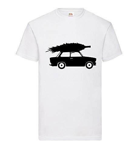 Trabant mit Weihnachtsbaum Männer T-Shirt Weiß 3XL - shirt84.de