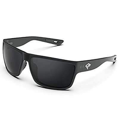 TOREGE Polarized Sports Sunglasses for Men and Women Cycling Running Golf Fishing Sunglasses TR26 (Transparent Grey & Grey Lens)