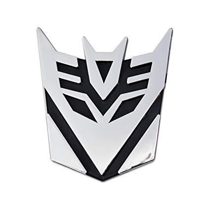 Transformers Decepticon Chrome Auto Emblem -'3 Tall