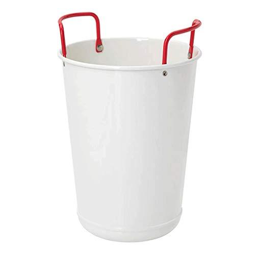 YWSZJ Cremefarbener, doppelwandiger Eisbehälter aus Metall, mit Deckel und Schaufel