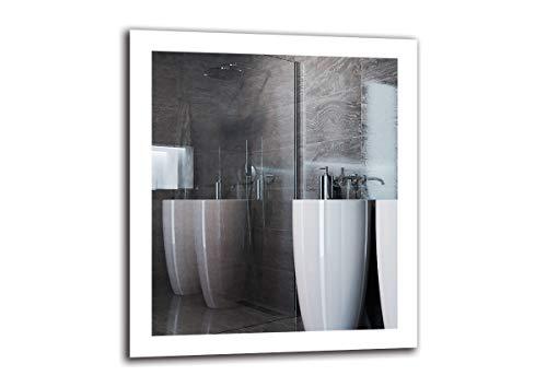 Espejo LED Premium - Dimensiones del Espejo 70x80 cm - Espejo de baño con iluminación LED - Espejo de Pared - Espejo de luz - Espejo con iluminación - ARTTOR M1ZP-50-70x80 - Blanco frío 6500K