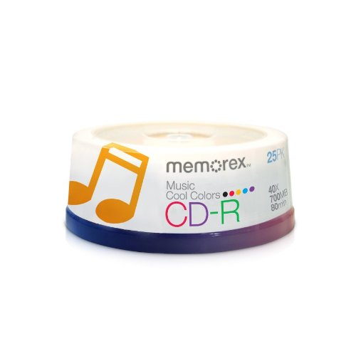 Memorex CD-RM/25 80 Minute Music CD-R (Discontinued by Manufacturer)