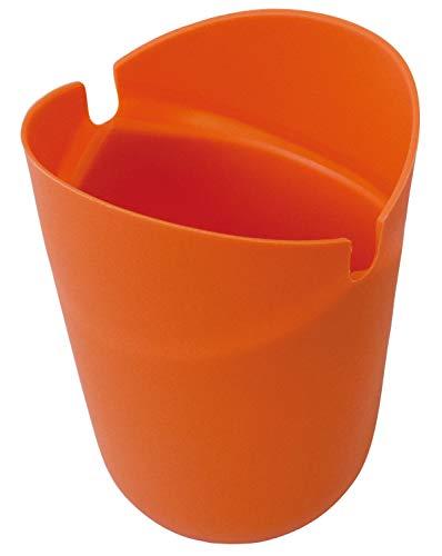 ファインポップコーンメーカー電子レンジ調理レンチンPOPCORN家庭用手作りおやつFIN-750オレンジ約上直径11×下直径8×高15㎝