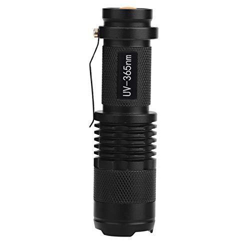 Linterna LED UV De Luz Negra, Antorcha De Mano Lámpara Ultravioleta De Luz Negra 395/365 NM Para El Hogar, Senderismo, Camping, Viajes(365 nm)