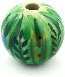 Polish Pottery Bead 1-inch Prairie Land UNIKAT