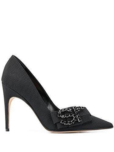 Sergio Rossi Mode De Luxe Femme A83761MTEZ781000 Noir Cuir Escarpins | Ss21