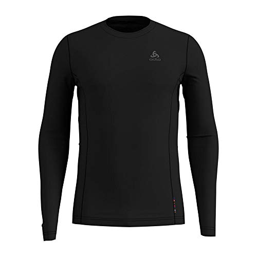 Odlo Natural + Light Longues Manches Longues pour Homme XL Black annullato fw19