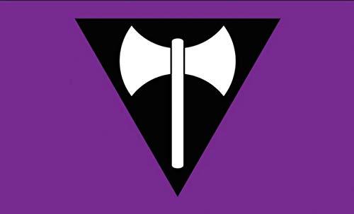 Jasper Merchandise Butch Lesbian Flag Purple Black Pride