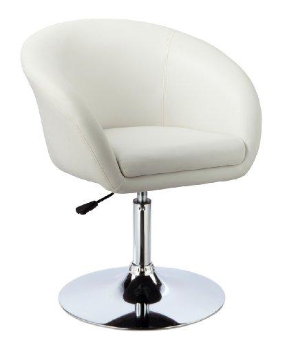Kronenburg Barhocker Lounge - 360° drehbar und höhenverstellbar in Weiß - Farbwahl