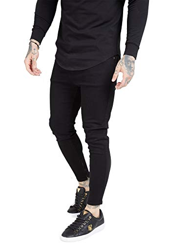 Sik Silk Jeans heren Drop Crotch Denim SS-15106 zwart