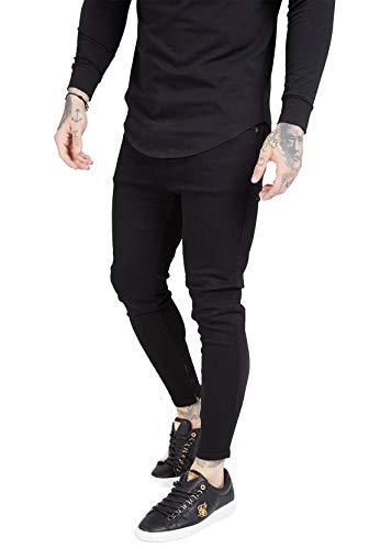 Sik Silk Jeans heren Drop Crotch Denim SS-15106 zwart