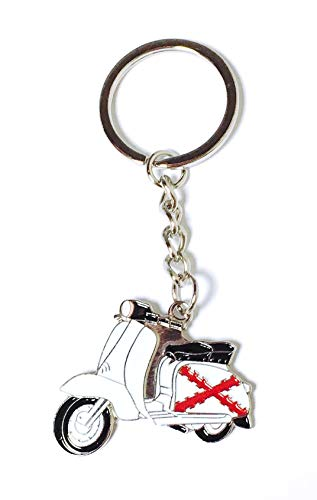 Llavero Vespa Lambretta Aspa de Borgoña   Para Guardar y Tener recogidas las Llaves   Porta llaves Original y Práctico   Organizador de llaves Compacto