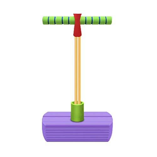 WENJIA Pogo Stick Pogo Saltarin Childrens Fun Safe Soft Pogo Stick,manijas Cómodas Duradero Y Antideslizante Súper Ligero,Bungee Jumper En Interiores Y Exteriores (Color : Purple)