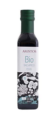 ARISTOS Bio Balsamico Essig | aus sonnengetrocknete Rosinen | ohne Zucker Zusatz | natürliche Gährung | ohne Chemie | Korinth Griechenland | 6{c197871ce2f9bd0ec0eecb93f5236680d81fdff3982ef09c1adc679130e2cc9e} Säure | 250 ml (2)