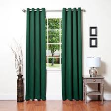 Gorgeous HomeDIFFERENT Solid Colors & Sizes (AA72) 2 Panels Set Solid Thermal Foam Lined Blackout Heavy Thick Window Curtain Drapes Bronze Grommets (Hunter Green, 84')