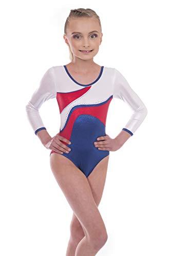 Vincenza Dancewear Girls Radiant Long Sleeved and Short Sleeve Leotard for Dance Gym and Gymnastics