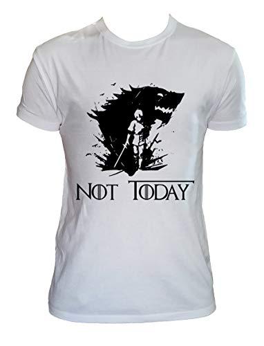Camiseta Not Today Hombre Niño Arya Stark Juego de Tronos Series TV