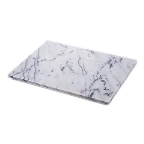 JEmarble Pastry Board 12x16 inch with Non-Slip Rubber Feets for Stability Perfect for Keep the Dough Cool and Chocolate Tempering(Premium Quality)