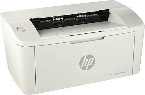 HP LaserJet Pro M15a Stampante Monofunzione Bianco e Nero, Solo USB, 18 ppm, Bianco