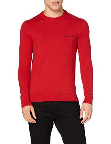 Calvin Klein Essential Crew Neck Sweater Maglione, Red Hot, XL Uomo