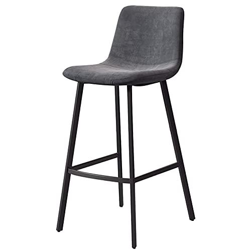 Velvet Cushion Barhocker,Barstühle mit Rückenlehne und Schwarzen Metallbeinen, Barhocker Einfache und Stilvolle Frühstücksküche Bar Cafe Restaurant Schlafzimmer Empfang