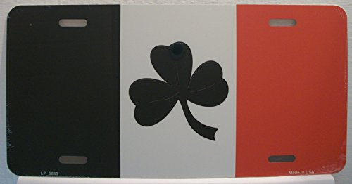 Smart Blonde LP-6885 Shamrock Irish Flag Metal Novelty License Plate