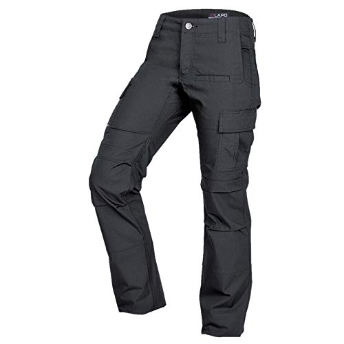 LA Police Gear Women's Mechanical Stretch Ops Tactical Cargo Pants - Charcoal-8-REGULAR