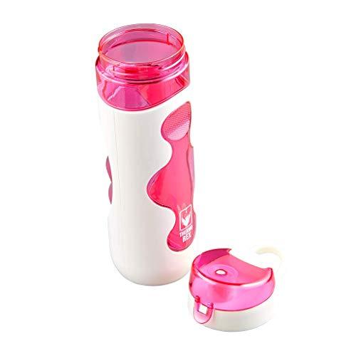 Thermo Rex Tritan Trinkflasche Fresh – 720ml – weiß/pink – aus BPA-freiem Kunststoff – nahezu bruchsicher und wiederverwendbar – auslaufsicher durch festschließenden Deckel – ideal für Sport